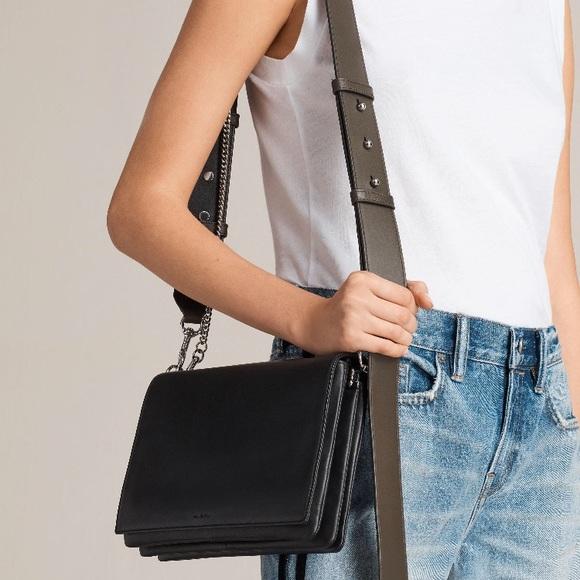 aa84b4670c5d All Saints Handbags - All Saints Zep Color Block Leather Shoulder Bag